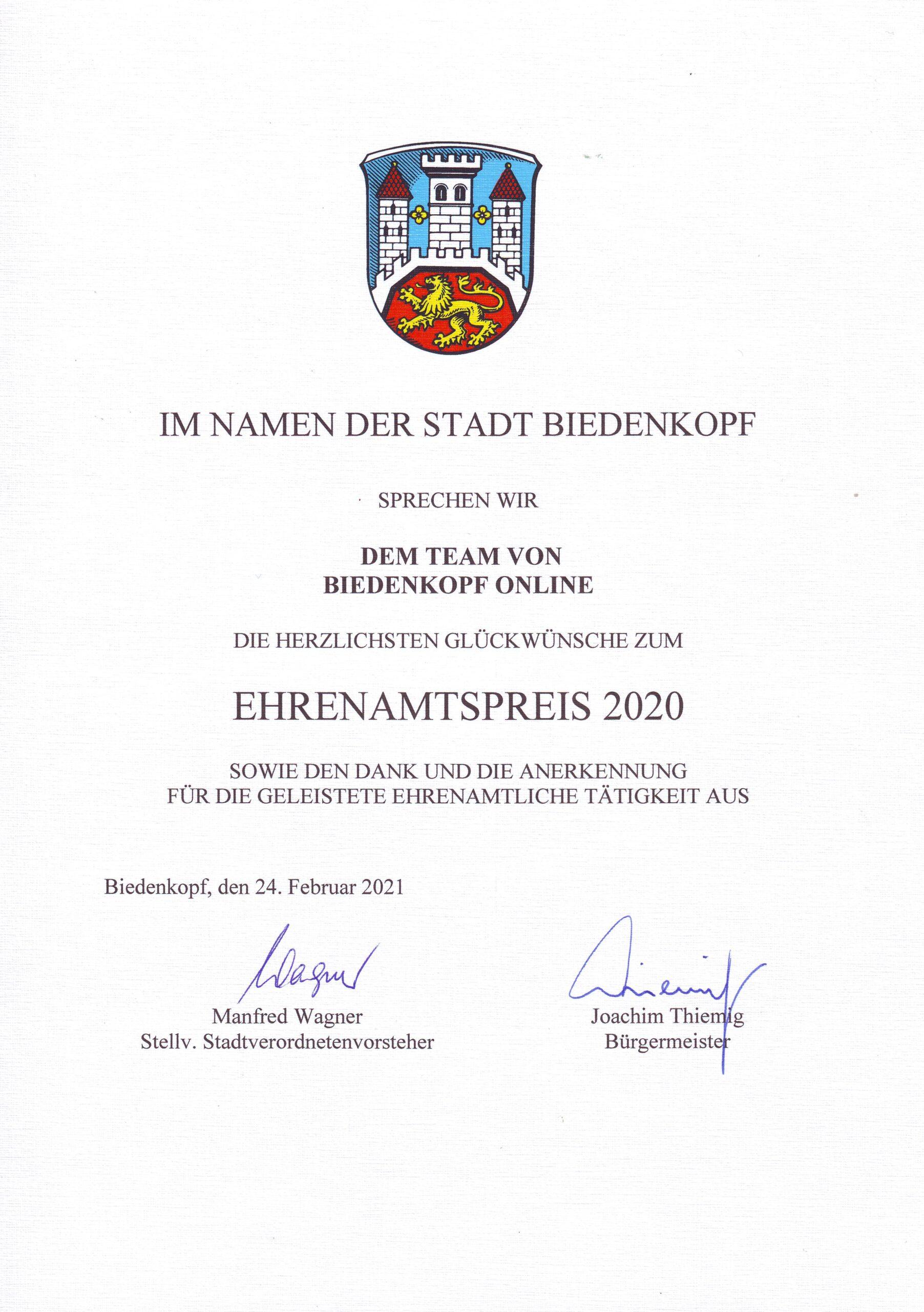 Ehrenamtspreis2020